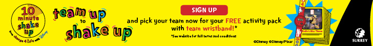 teamup-to-shakeup - sign up for free activity pack with wristband