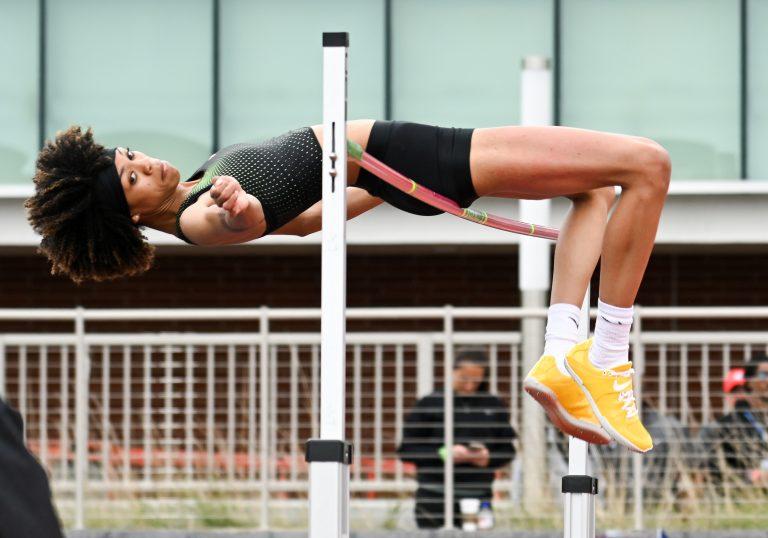 Vashti Cunningham wins the women's high jump at 6-5 1/2