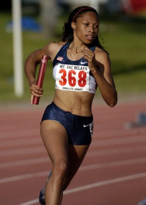 Allyson Felix, the 2004 Olympic silver medalist in the 200 meters