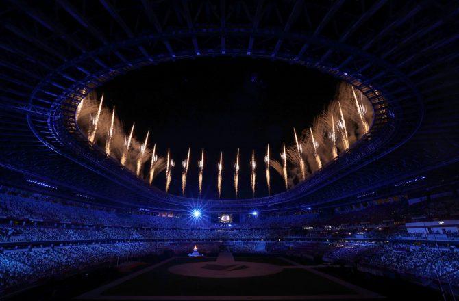 Olympic Stadium 2020 fireworks